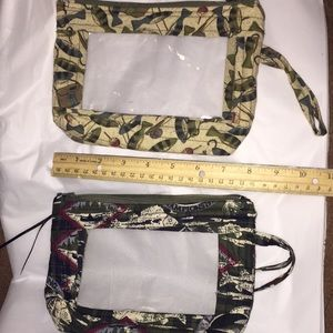 Handbags - Zippered travel-size fabric quilted bags